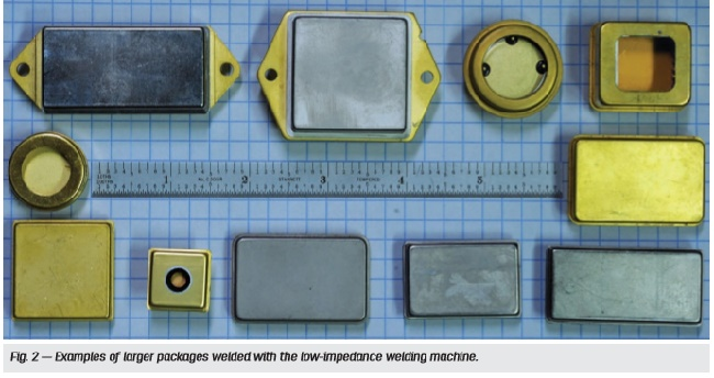 Examples of low impedance welded seals