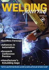 Welding Journal Cover September 2016