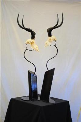 Steel, Impala skulls, powder coat